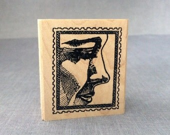 Lady Postoid Rubber Stamp