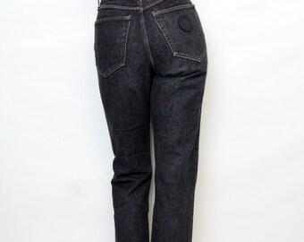 Vintage Converse Washed Out Charcoal Denim High Waist Pants Size Medium
