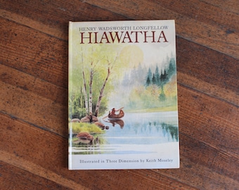 Vintage Pop-Up Book - Hiawatha (Henry Wadsworth Longfellow - 1988)