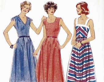 PATTERN Style 2673 Sundress with round or vee neck shoulder casing ties or straps uncut