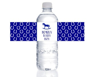 Howdy Baby Water Bottle Labels : By Bloom Designs
