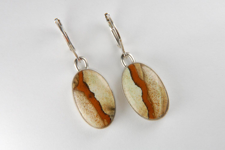 Artisan Earrings : Picture jasper earrings artisan large drop
