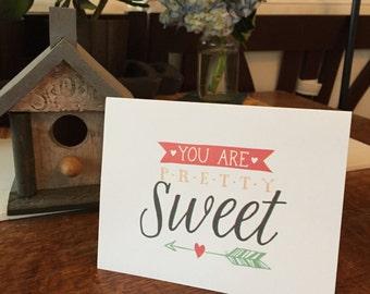 Greeting Card pretty sweet