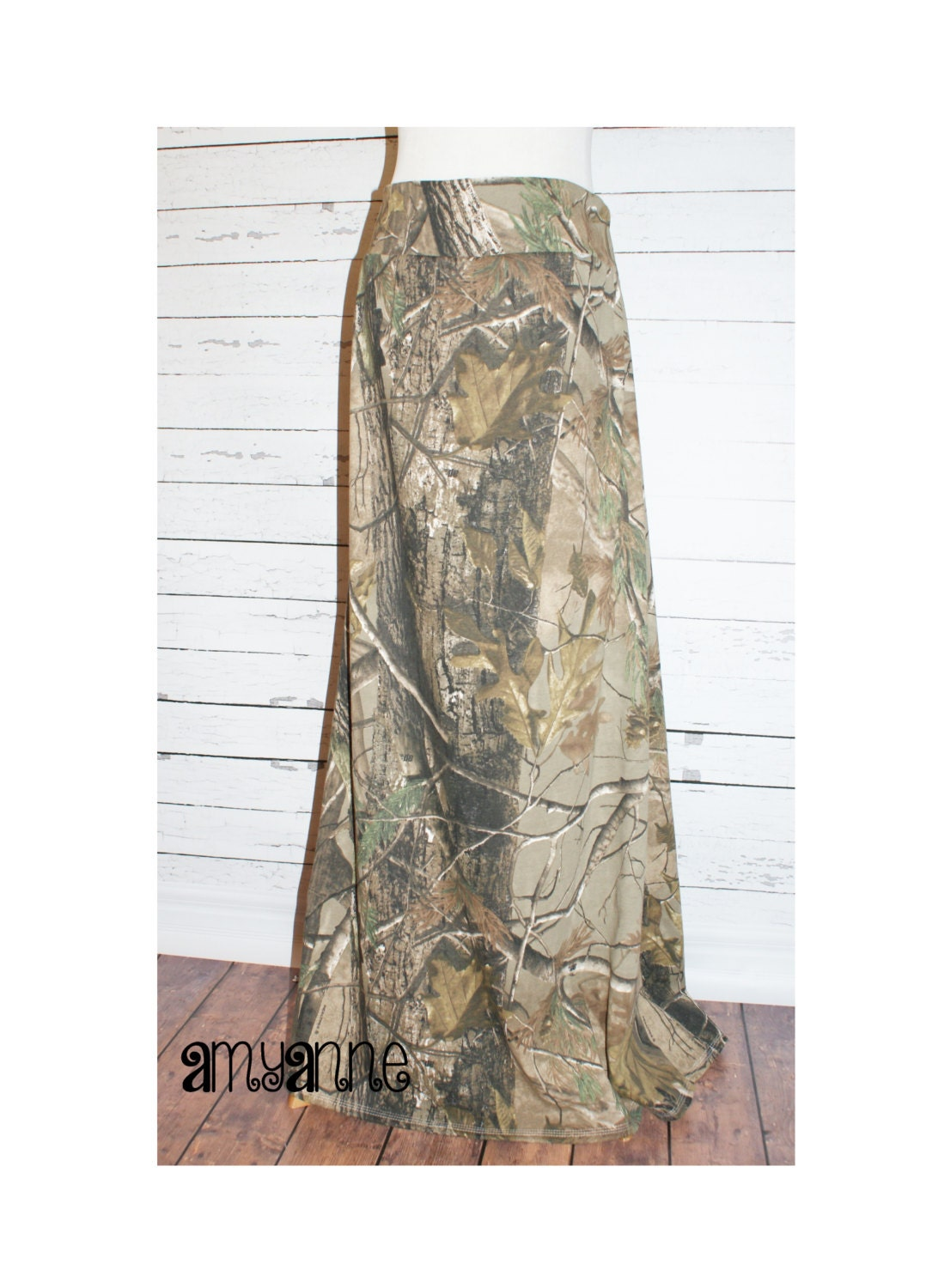realtree camo maxi skirt knit womens and plus size camouflage