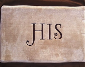 Personalized Bathroom Rug, Mat, Embroidered wtih Design or Name