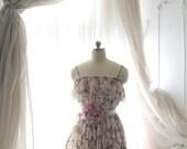SUMMER CLEARANCE SALE  - Lilac Purple Pink Floral Dress,Fairytale Resort Woodland Dress,Sundress,Honeymoon Gift,Girly,Romantic Clothing