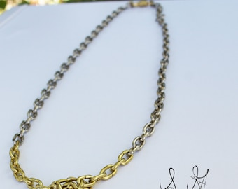 Silver Gold // Knot Necklace