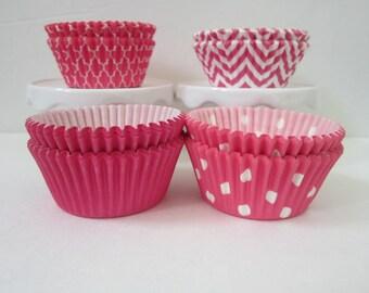 Hot Pink ~ Standard ~ DESIGNER GREASE RESISTANT ~ BakeBright ~ Baking Cupcake liners (set of 50)