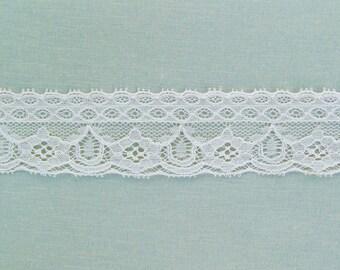 Vintage lingerie lace, pale beige cotton lace