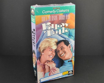 Vintage Pillow Talk VHS Tape - 1959 Remake - Rock Hudson - Doris Day - Movie - MGM - Comedy - Romance - VCR