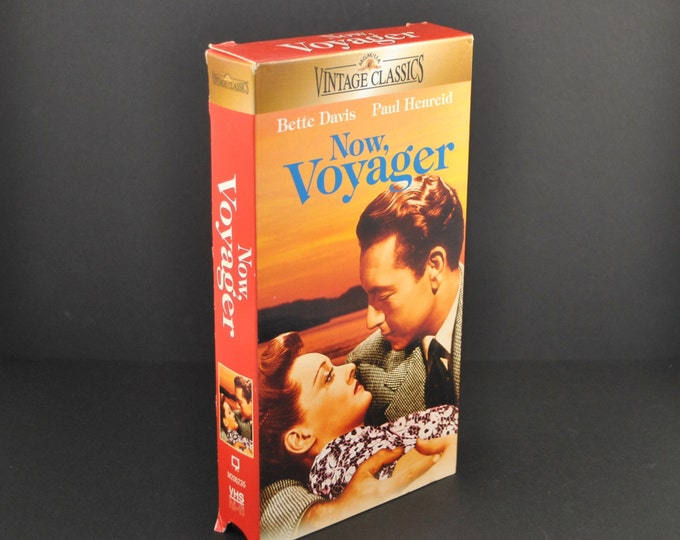 Vintage Now, Voyager VHS Tape - 1942 Remake - Bette Davis - Paul Henreid - Movie - MGM - Drama - Romance - VCR