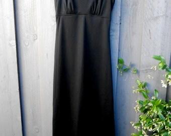 Vintage Basic Black Long Dress