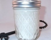 Raspberry Sangria - Soy Mason Jar Candle, Handmade Scented Soy Candle, 8oz