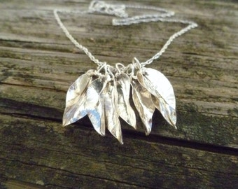 Seven Leaf Lucky Necklace, Sterling Silver