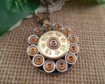 Shotgun Shell Jewelry ~ 12 Gauge Rio ~ Round Primer Necklace