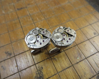 Benrus AE 13 Watch Movement Cufflinks. Great for Fathers Day, Anniversary, Groomsmen or Just Because.  #280