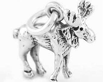 Sterling Silver Moose Charm