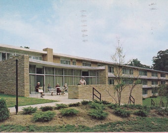 """Ca. 1962 """"Brooks-Howell Home"""" in Ashville, NC Topographical Picture Postcard - 12"""
