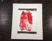 Abstract Relief Print