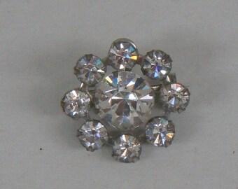 Vintage Crystal Cluster Pin Brooch