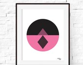 Wall Art - Geometric Circle Art Print - Modern Minimalist Abstract Art Print - Home Decor