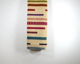 Modern Twin Quilt, Neutral Bedding, Stripe Quilt, Stripe Quilt, Stripes, Geometric Quilt