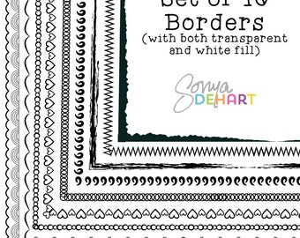 Clipart Doodle Borders and Frames Clip Art Hand Drawn Page Borders CA165