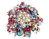 Vintage Massive CHRISTIAN LACROIX Multi Coloured Stone Brooch