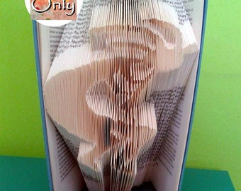 Kokopelli Folded Book Art Pattern