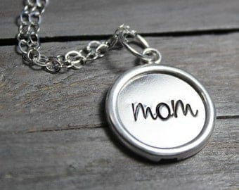 Silver Mother Necklace, Sterling Mom Necklace, Sterling Silver Necklace, Mom Jewelry, Mother Jewelry, Gifts For Mom Sterling Silver Necklace