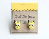Pikachu Head Pokemon Earrings