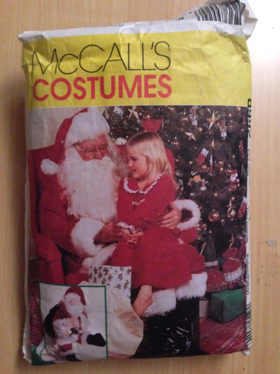 McCalls Costume Sewing Pattern 8992 Santa Costume, Bag and Doll Size XL