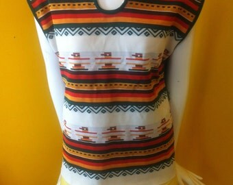 Unisex native vintage south western top