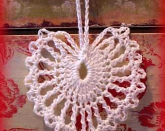 Valentine's Day Wedding Custom Vintage Lace Heart Doily Sets of 10  Shabby Country Cottage Decor Wedding Birthday Favors