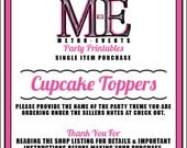 Cupcake Toppers, Printable Files, Single Item, Metro-Events