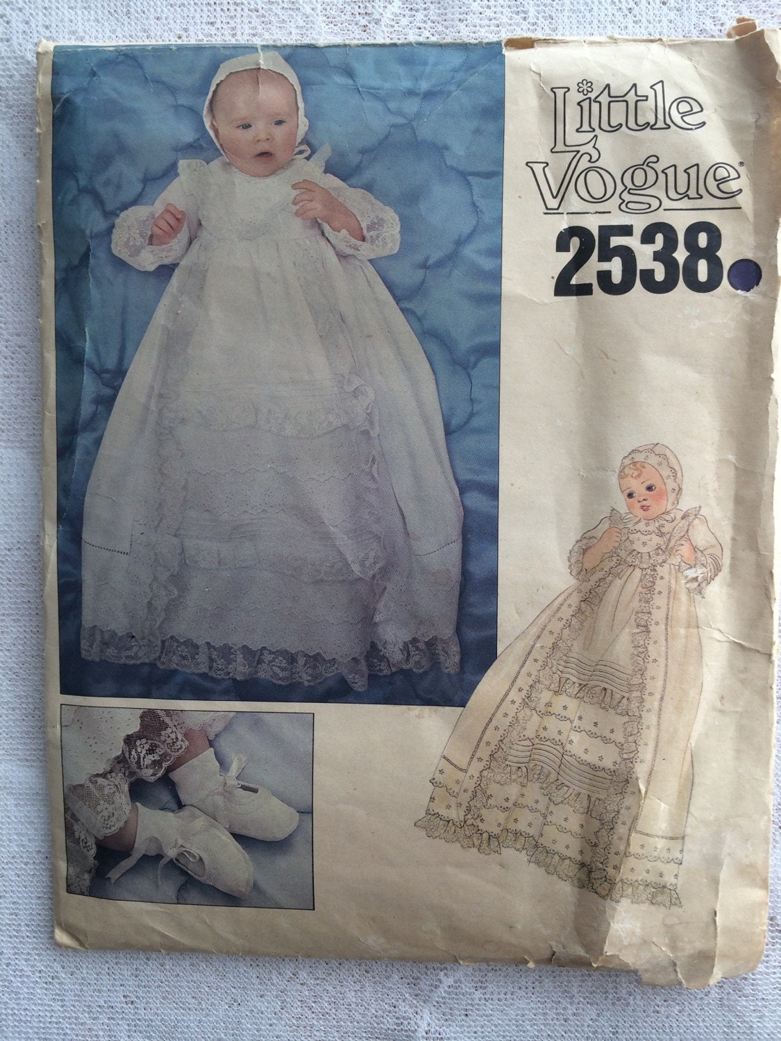 Baby Christening Gown Sewing Pattern Little Vogue Pattern