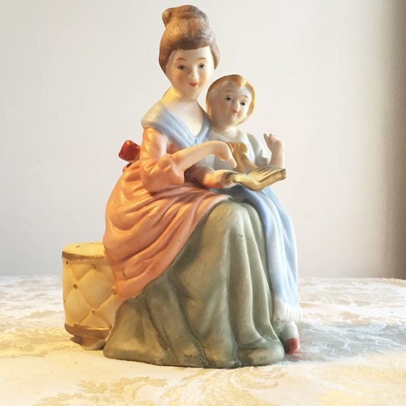 Porcelain mother and child figurine vintage by vintagepoetic
