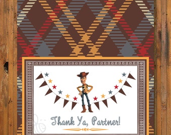 Toy Story WOODY, JESSIE and BUZZ Lightyear Thank You Cards - Item 0069ty