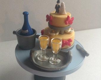 Playmobil Geobra Wedding Cake / Champagne, wedding decoration, original, collectible, Greece