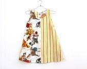 Kittens and Stripes, babydoll mini dress, Napkin