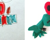 Your Child's Drawing Turned into a Custom Stuffed Animal