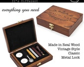 Custom Wax Seal Stamp Gift Set, with Wood Box Packing