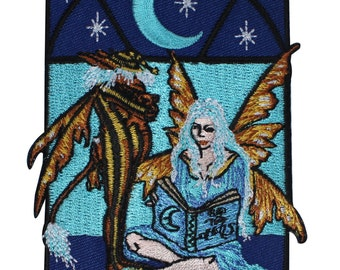 Night Faery Frame Fairy Tale Bedtime Story Embroidered Iron On Applique Patch