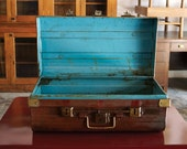 Antique English Steel Trunk, with Crown, c. 19th Century