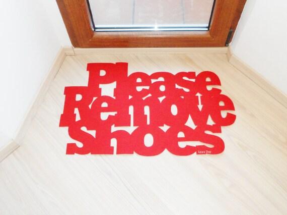 Please remove shoes floor mat custom doormat exclusive - Remove shoes doormat ...