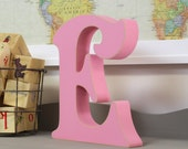 Free Standing Wooden Alphabet Letters - Victorian Font - Choose Any Letter - Letter E