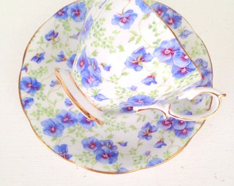Vintage English Royal Albert Crown China Tea Cup and Saucer Tea Party