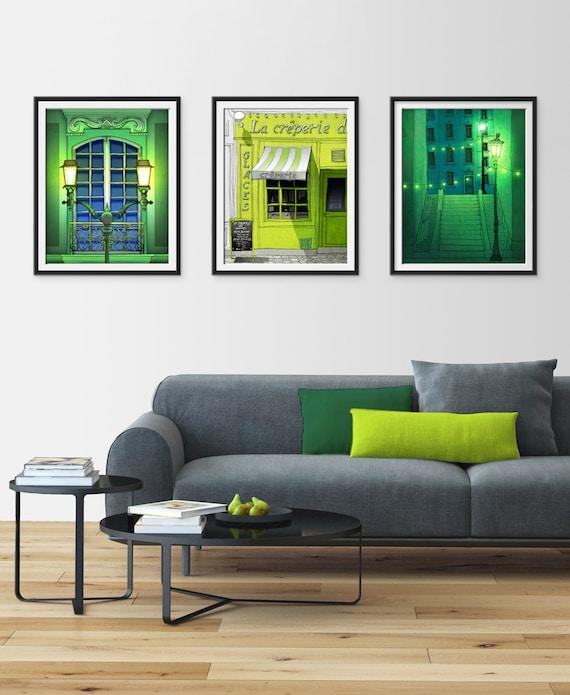 Any THREE Prints - Save 25%,Set of three Illustrations,Giclee Art print Home decor City print Paris decor Travel poster Cityscape Wall decor