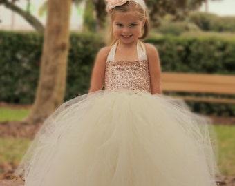 Light Pink Sequin Tutu Dress, Sequin Flower Girl Dress, Blush Sequin Tutu Dress, Birthday Tutu Dress, Sequin Tutu Skirt