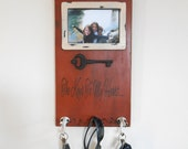 SALE Photo Key Holder Wall Rack for Scarves, Medals, Aprons, Sunglasses - Keys to My Heart Home Decor - IN STOCK